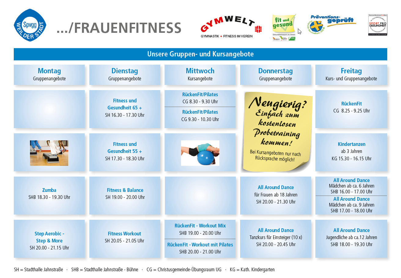 Frauenfitness Flyer 2019